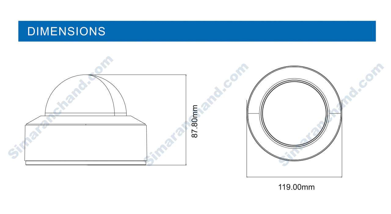 دوربین مدار بسته دام IP سیماران مدل SM-IP5514H-WFR